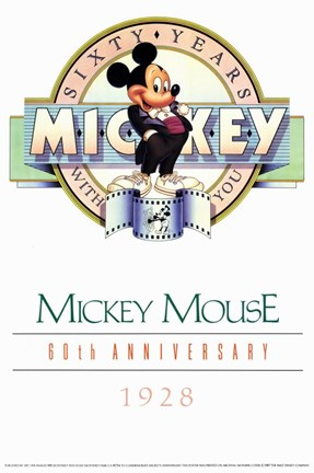 Framed Mickey Mouse 60Th Anniversary Gallery Print