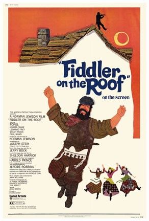 Framed Fiddler On The Roof On The Screen Print