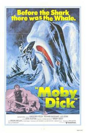 Framed Moby Dick Print