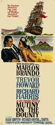 Framed Mutiny on the Bounty Marlon Brandon Print