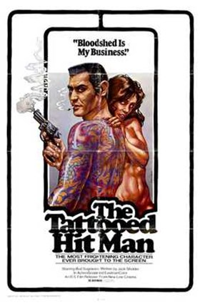 Framed Tattooed Hit Man Print