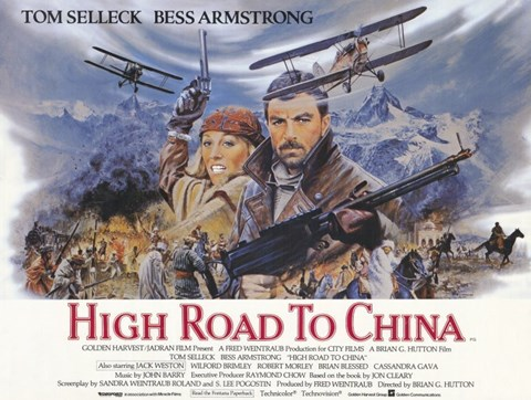 Framed High Road to China Tom Selleck Print