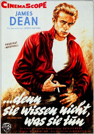Framed Rebel Without a Cause Smoking German Print