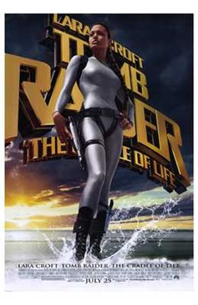Framed Lara Croft Tomb Raider: the Cradle of Life Print