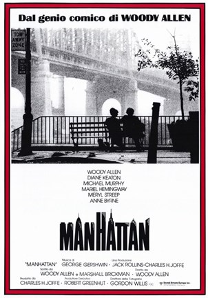 Framed Manhattan - red border Print