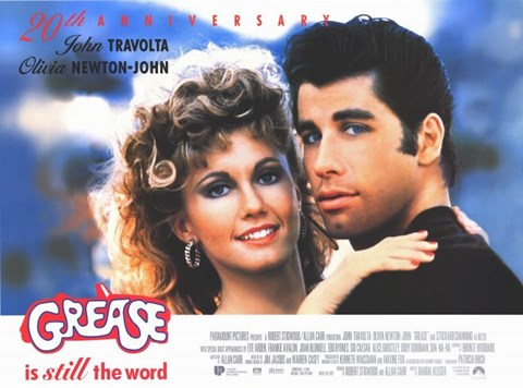 Framed Grease Travolta & Newton-John Print