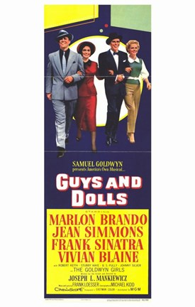 Framed Guys and Dolls Tall Movie Print