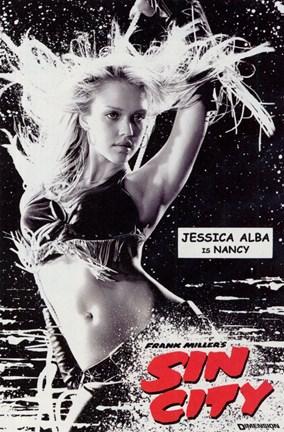 Sin City Jessica Alba Movie Poster Art Print Black /& White Card or Canvas