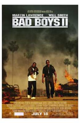 Framed Bad Boys II Movie Print