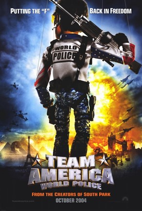 Framed Team America: World Police Print