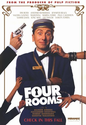 Framed Four Rooms Tim Roth Print