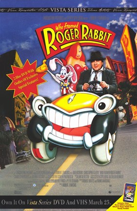 Who Framed Roger Rabbit Cartoon Car Wall Poster By