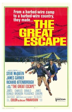 Framed Great Escape barbed wire camp Print