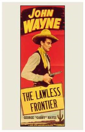 Framed Lawless Frontier Print