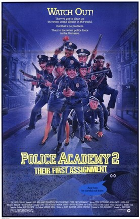 Framed Police Academy 2 Their First Assignment Print