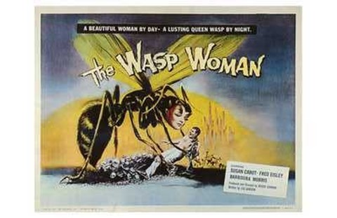 Framed Wasp Woman (movie poster) Print