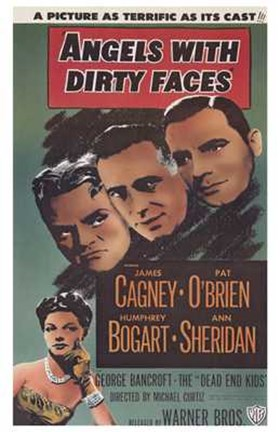 Framed Angels with Dirty Faces Gagney O'Brien Bogart Sheridan Print