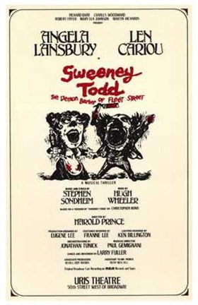 Framed Sweeney Todd (Broadway Musical) Print