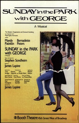 Framed Sunday in the Park with George (Broadway Print