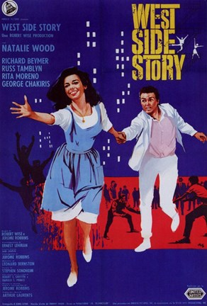 Framed West Side Story Musical Natalie Wood Print