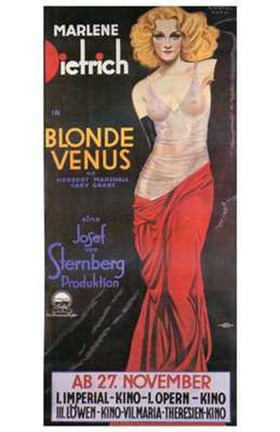 Framed Blonde Venus - posed Print