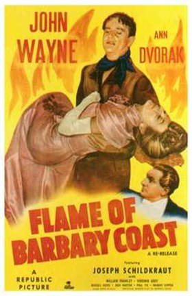 Framed Flame of the Barbary Coast Print