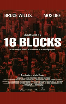 Framed 16 Blocks - red Print