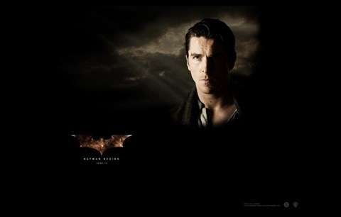 Framed Batman Begins Bruce Wayne Print
