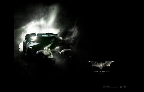 Framed Batman Begins Batmobile Print