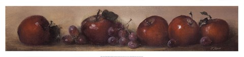 Framed Apples and Grapes Print
