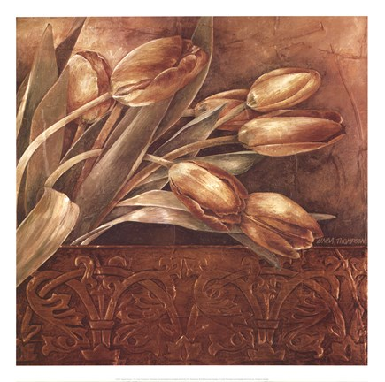 Framed Copper Tulips II Print