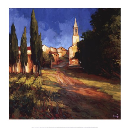 Framed Pathway to the Villa Print