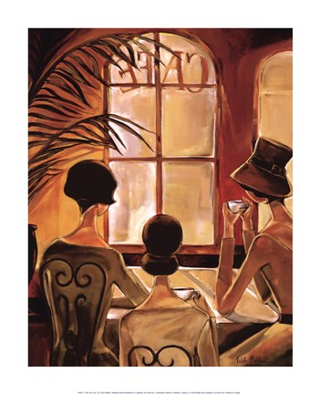 Cafe du Coin Fine Art Print by Trish Biddle at FulcrumGallery com