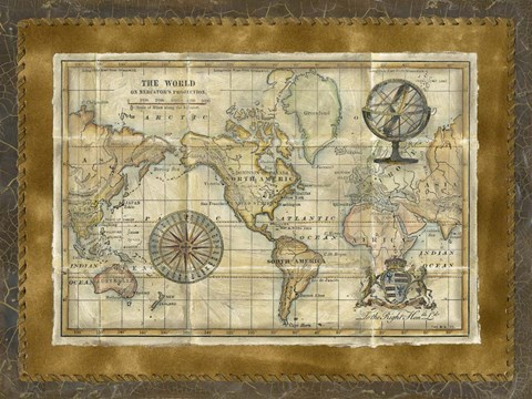 photo about Vintage World Map Printable named Eyesight Studio Antique Earth Map