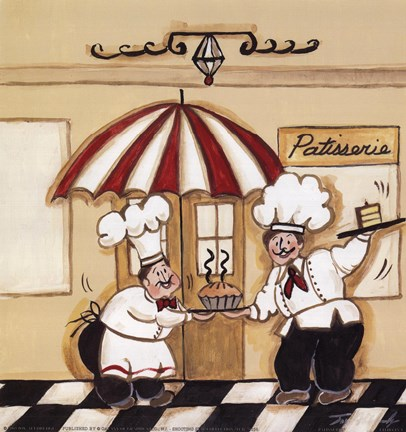 Framed Patisserie Print