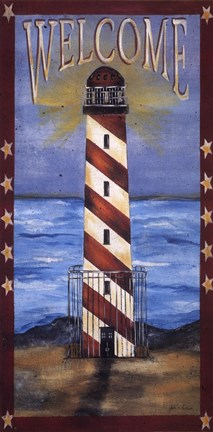 Framed Welcome - Lighthouse Print