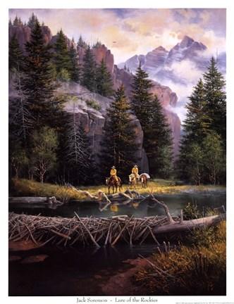 Lure Of Rockies Fine Art Print By Jack Sorenson At