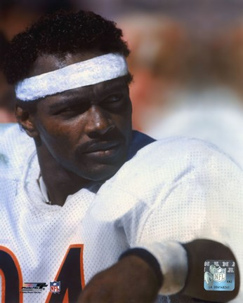 Framed Walter Payton - On Sidelines Print