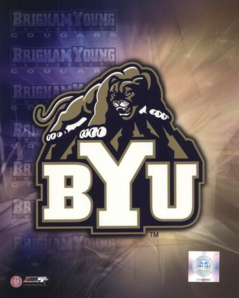 Framed Brigham Young University Logo Print