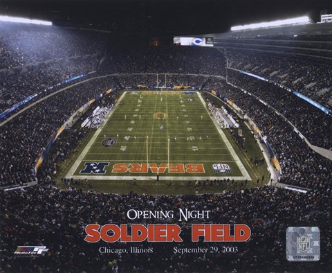 Framed Soldier Field - Opening Night - 9/29/03 Print