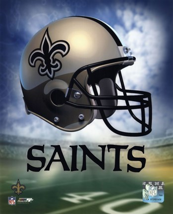 Framed New Orleans Saints Helmet Logo Print