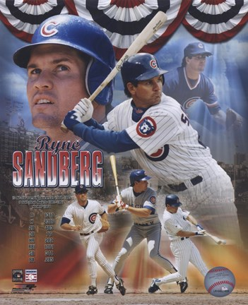 Framed Ryne Sandberg - Legends Composite Print