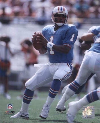 Framed Warren Moon - Passing Action Print