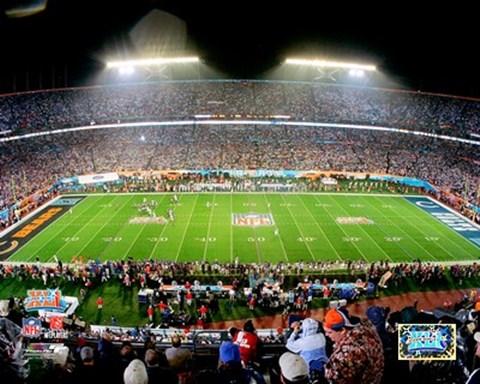 Dolphin Stadium Super Bowl Xli 2 Fine Art Print By