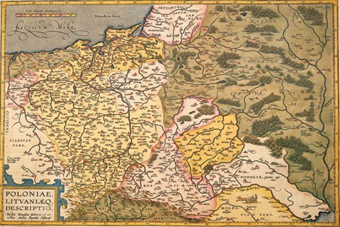 Map Of Europe In The 1500s.Map Of Poland And Eastern Europe C 1500 S Fine Art Print By Abraham