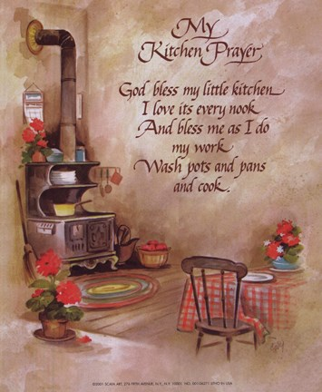My Kitchen Prayer Fine Art Print By J B Grant At