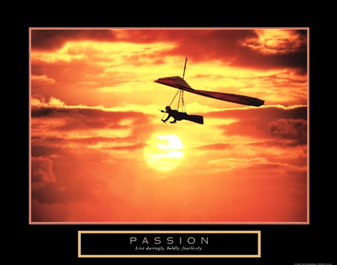 Framed Passion - Hang Glider Print