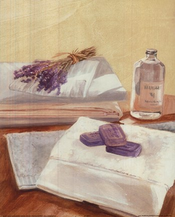 Framed Purple Soaps Towel Print
