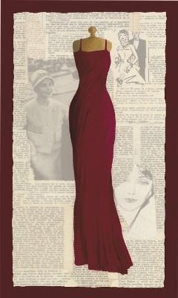 Framed Long Red Dress Print