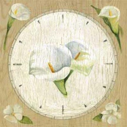 Framed Clock With Cala Lilies Print